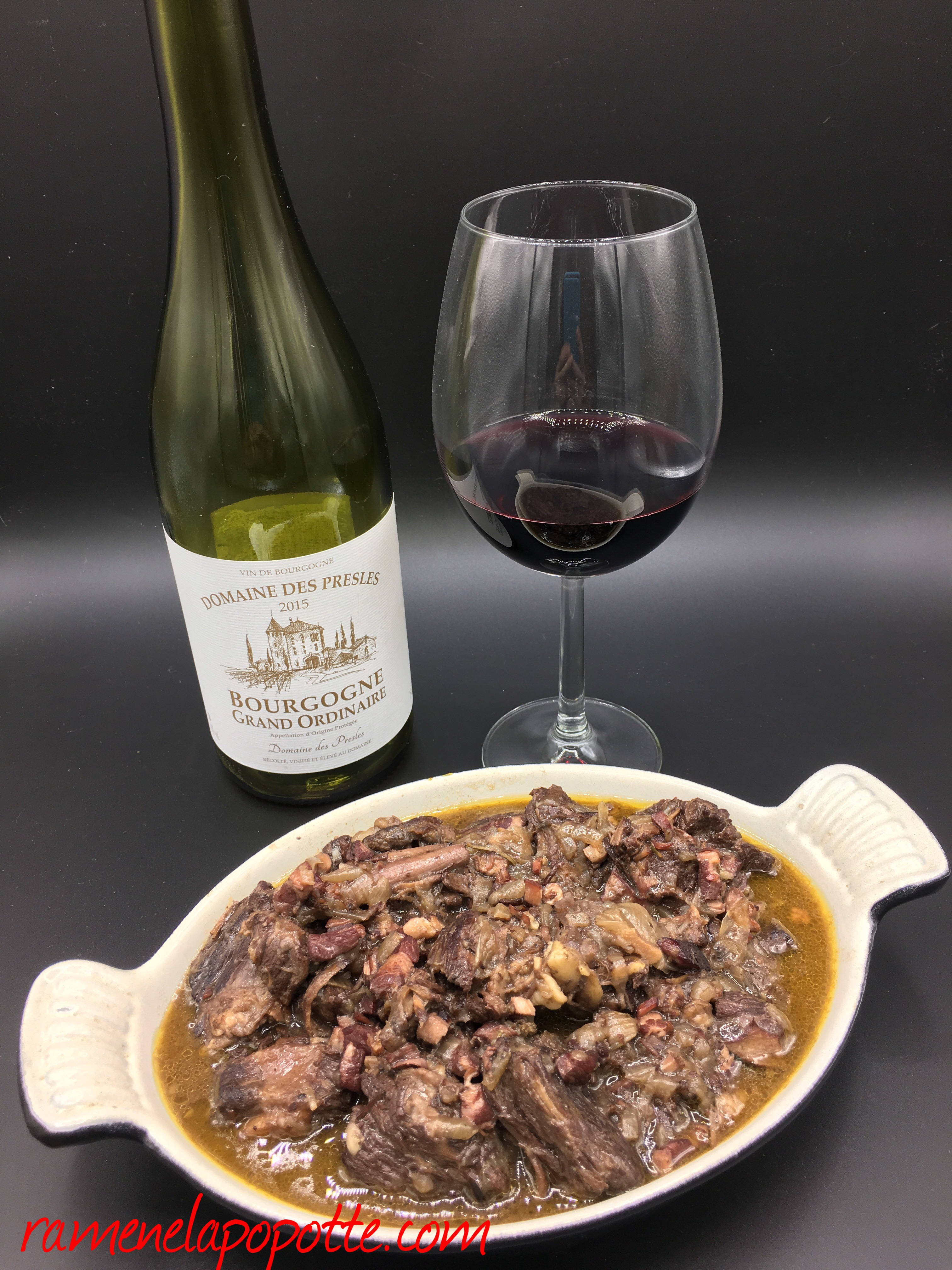 Vin pour boeuf bourguignon elegant g de boeuf pour - Quel vin pour cuisiner un boeuf bourguignon ...
